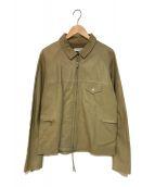 ()の古着「シングルレザージャケット」 ベージュ