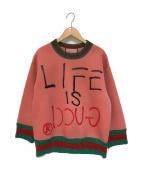 ()の古着「LIFE IS GUCCIスウェット」 ピンク