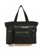 ANYA HINDMARCH()の古着「ミニマルチポケットナイロントートバッグ」|ブラック