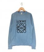 LOEWE(ロエベ)の古着「アナグラムパイル スウェットシャツ」 スカイブルー