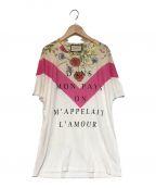 GUCCI(グッチ)の古着「FLORAL PRINT T-SHIRT Tシャツ」 ホワイト