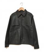 agnes b(アニエスベー)の古着「フェイクレザースイングトップ」|ブラック