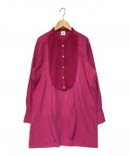 6(ROKU) BEAUTY&YOUTH(ロク ビューティーアンドユース)の古着「BOTANICAL DYE DRESS SHIRT シャツ」 ピンク