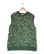()の古着「7G Shetland Wool Arabesqueベスト」 グリーン