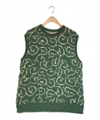 KAPITAL(キャピタル)の古着「7G Shetland Wool Arabesqueベスト」|グリーン