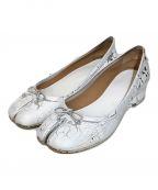 Maison Margiela(メゾンマルジェラ)の古着「ペンキ加工足袋パンプス」|ホワイト