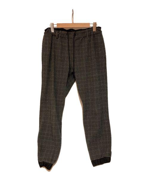 sacai(サカイ)sacai (サカイ) チェックジョガーパンツ グレー サイズ:2の古着・服飾アイテム