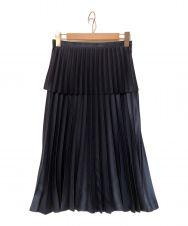 noir kei ninomiya (ノワール ケイ ニノミヤ) メタリックプリーツスカート ネイビー サイズ:S