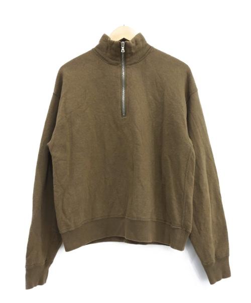 AURALEE(オーラリー)AURALEE (オーラリー) ハーフジップスウェット ベージュ サイズ:1の古着・服飾アイテム
