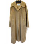 MaxMara(マックスマーラ)の古着「ドロップショルダーカシミヤ混コート」|ベージュ