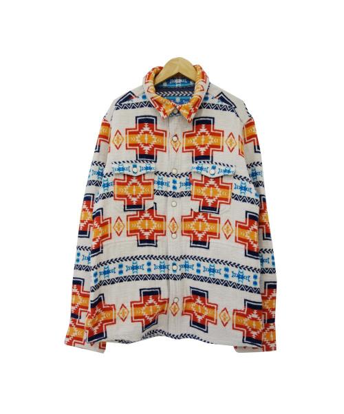 TMT(ティーエムティー)TMT (ティーエムティー) NATIVE BLANKET REVERSIBLE HUNT ホワイト×レッド サイズ:XLの古着・服飾アイテム