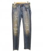 JACOB COHEN()の古着「ヴィンテージウォッシュデニムパンツ」|ブルー