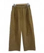 オローネ(オローネ)の古着「タックパンツ」|ベージュ