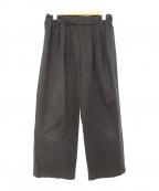オローネ(オローネ)の古着「タックパンツ」|ブラック