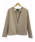 Demi-Luxe BEAMS(デミルクスビームス)の古着「ノーカラージャケット」 ベージュ