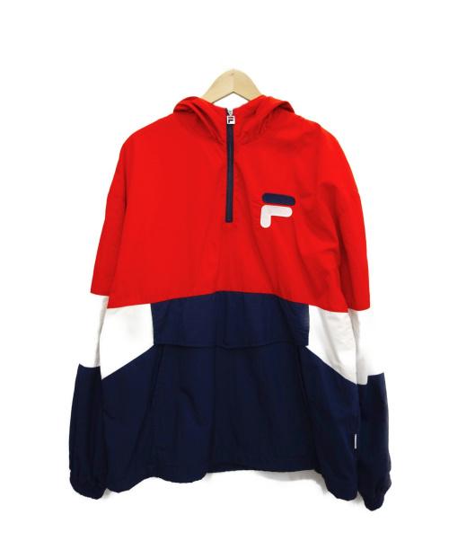 FILA(フィラ)FILA (フィラ) アノラックパーカー レッド×ネイビー サイズ:Lの古着・服飾アイテム