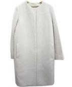 UNITED ARROWS(ユナイテッドアローズ)の古着「UBCEカルゼノーカラーコート」|ホワイト