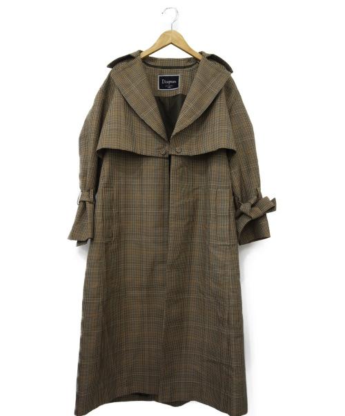 Diagram(ダイアグラム)Diagram (ダイアグラム) 3WAYチェックトレンチコート ブラウン サイズ:36 秋物の古着・服飾アイテム