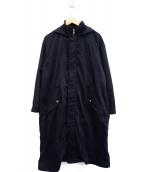 allureville(アルアバイル)の古着「フード付フィールドコート」|ネイビー