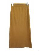 journal standard Lessage(ジャーナルスタンダード レサージュ)の古着「トタンリブスカート」|ブラウン