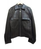 Martin Margiela14(マルタンマルジェラ14)の古着「ジップアップスポーツラムレザージャケット」|ブラック