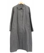 MARGARET HOWELL(マーガレットハウエル)の古着「バックプリーツステンカラーコート」 グレー