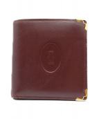 Cartier(カルティエ)の古着「2つ折り財布」|ボルドー