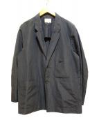 Phlannel(フランネル)の古着「シルクリネンアンコンワークジャケット」|ネイビー