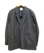 Phlannel(フランネル)の古着「シルクリネンアンコンワークジャケット」 ネイビー