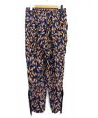 TOGA PULLA(トーガ プルラ)の古着「総柄フリンジパンツ」|ネイビー