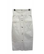 Maison de Beige(メゾンドベージュ)の古着「ハイウエストタイトスカート」|ホワイト