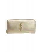 Saint Laurent Paris(サンローランパリ)の古着「長財布」|ゴールド