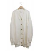 MADISON BLUE(マディソンブルー)の古着「Vネックロングカーディガン」 ホワイト