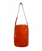 J&M DAVIDSON(ジェイエムデビッドソン)の古着「バケツ型パンチングショルダーバッグ」 オレンジ