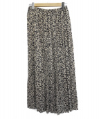 Spick and Span(スピックアンドスパン)の古着「ニュアンスプリーツマキシスカート」|アイボリー×ネイビー