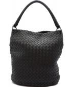 BOTTEGA VENETA(ボッテガヴェネタ)の古着「イントレチャートハンドバッグ」|ブラック