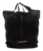 ALEXANDER WANG(アレキサンダーワン)の古着「スウェード切替2WAYバッグ」|ブラック