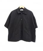 NEON SIGN()の古着「ストライプジャケット」 ブラック