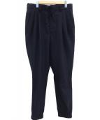 BED J.W. FORD(ベッドフォード)の古着「タックパンツ」|ネイビー