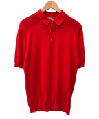 JOHN SMEDLEY(ジョンスメドレー)の古着「ニットポロシャツ」|レッド