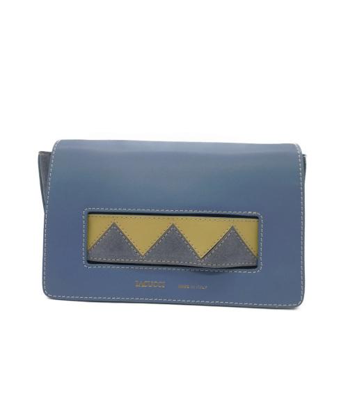 IACUCCI(イアクッチ)IACUCCI (イアクッチ) ベルト配色ポシェット ブルーの古着・服飾アイテム