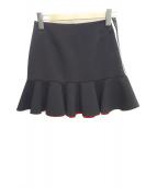 PINKO(ピンコ)の古着「サイドレースミニフレアスカート」|ブラック