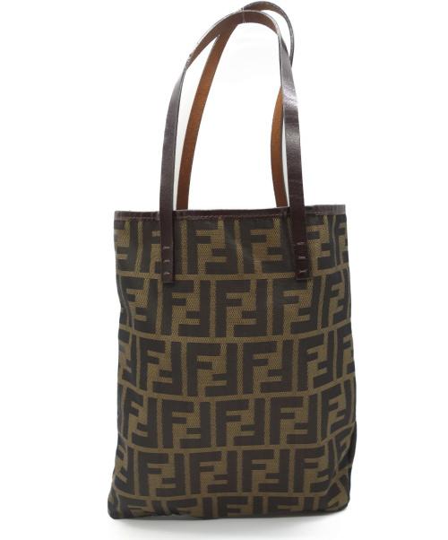 FENDI(フェンディ)FENDI (フェンディ) トートバッグ ブラウン ズッカの古着・服飾アイテム