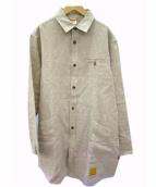 NATAL DESIGN(ネイタルデザイン)の古着「リネンシャツコート」|ベージュ