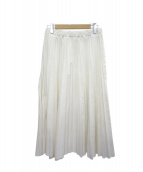 urvin(アービン)の古着「デニムプリーツスカート」|ホワイト