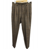 stein(シュタイン)の古着「TWO TUCK WIDE TROUSERS」|ブラウン