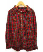 AiE(エーアイイー)の古着「ペインターシャツ」|レッド×グリーン