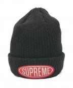 SUPREME(シュプリーム)の古着「Oval Patch Beanie / ニット帽」|ブラック