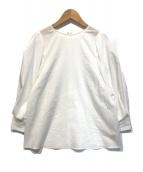 ()の古着「【洗える】タックスリーブブラウス」|ホワイト
