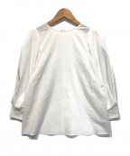 DRESSTERIOR(ドレステリア)の古着「【洗える】タックスリーブブラウス」|ホワイト